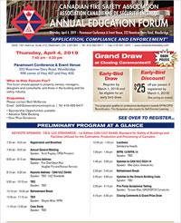 CFSA Annual Education Forum - Canadian Fire Safety Association (CFSA)